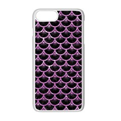 Scales3 Black Marble & Purple Glitter (r) Apple Iphone 8 Plus Seamless Case (white) by trendistuff