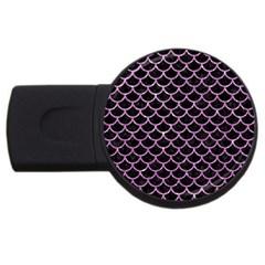 Scales1 Black Marble & Purple Glitter (r) Usb Flash Drive Round (2 Gb) by trendistuff