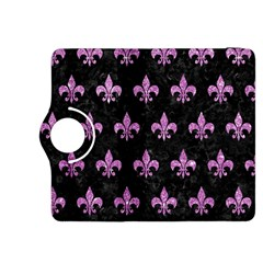 Royal1 Black Marble & Purple Glitter Kindle Fire Hdx 8 9  Flip 360 Case by trendistuff