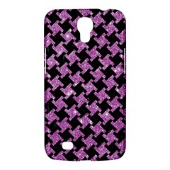 Houndstooth2 Black Marble & Purple Glitter Samsung Galaxy Mega 6 3  I9200 Hardshell Case by trendistuff
