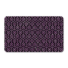 Hexagon1 Black Marble & Purple Glitter (r) Magnet (rectangular) by trendistuff