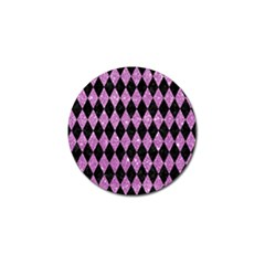 Diamond1 Black Marble & Purple Glitter Golf Ball Marker by trendistuff