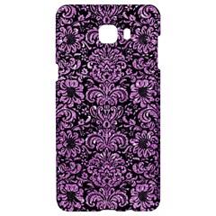 Damask2 Black Marble & Purple Glitter (r) Samsung C9 Pro Hardshell Case  by trendistuff