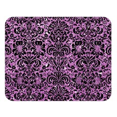 Damask2 Black Marble & Purple Glitter Double Sided Flano Blanket (large)  by trendistuff