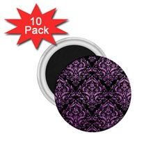 Damask1 Black Marble & Purple Glitter (r) 1 75  Magnets (10 Pack)  by trendistuff