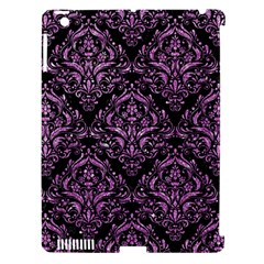 Damask1 Black Marble & Purple Glitter (r) Apple Ipad 3/4 Hardshell Case (compatible With Smart Cover) by trendistuff