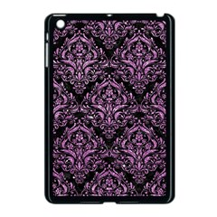 Damask1 Black Marble & Purple Glitter (r) Apple Ipad Mini Case (black) by trendistuff