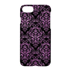 Damask1 Black Marble & Purple Glitter (r) Apple Iphone 7 Hardshell Case by trendistuff