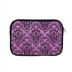 Damask1 Black Marble & Purple Glitter Apple Macbook Pro 15  Zipper Case by trendistuff