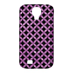 Circles3 Black Marble & Purple Glitter (r) Samsung Galaxy S4 Classic Hardshell Case (pc+silicone) by trendistuff