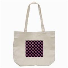 Circles2 Black Marble & Purple Glitter Tote Bag (cream) by trendistuff