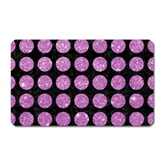 Circles1 Black Marble & Purple Glitter (r) Magnet (rectangular) by trendistuff