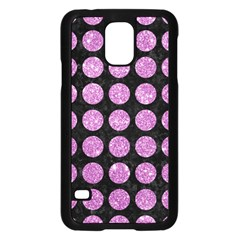 Circles1 Black Marble & Purple Glitter (r) Samsung Galaxy S5 Case (black) by trendistuff