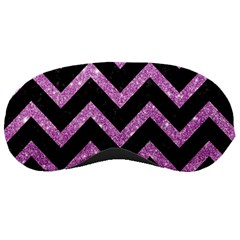 Chevron9 Black Marble & Purple Glitter (r)chevron9 Black Marble & Purple Glitter (r) Sleeping Masks by trendistuff