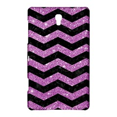 Chevron3 Black Marble & Purple Glitter Samsung Galaxy Tab S (8 4 ) Hardshell Case