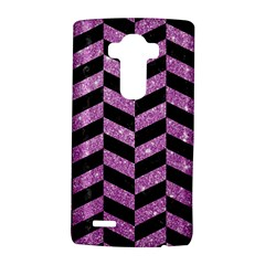 Chevron1 Black Marble & Purple Glitter Lg G4 Hardshell Case by trendistuff