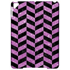 Chevron1 Black Marble & Purple Glitter Apple Ipad Pro 9 7   Hardshell Case by trendistuff