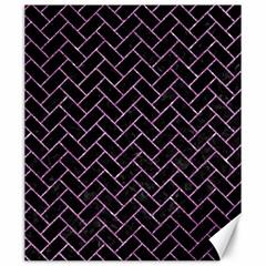 Brick2 Black Marble & Purple Glitter (r) Canvas 20  X 24