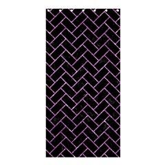 Brick2 Black Marble & Purple Glitter (r) Shower Curtain 36  X 72  (stall)  by trendistuff