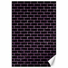 Brick1 Black Marble & Purple Glitter (r) Canvas 20  X 30   by trendistuff