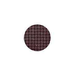 Woven1 Black Marble & Pink Glitter (r) 1  Mini Buttons by trendistuff