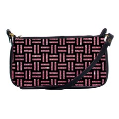 Woven1 Black Marble & Pink Glitter (r) Shoulder Clutch Bags by trendistuff
