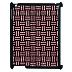 Woven1 Black Marble & Pink Glitter (r) Apple Ipad 2 Case (black) by trendistuff
