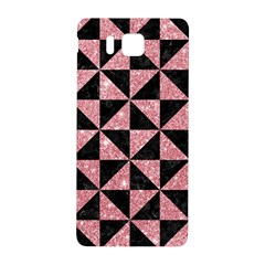 Triangle1 Black Marble & Pink Glitter Samsung Galaxy Alpha Hardshell Back Case by trendistuff