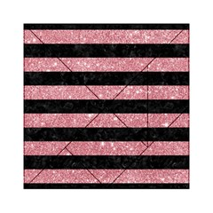 Stripes2black Marble & Pink Glitter Acrylic Tangram Puzzle (6  X 6 ) by trendistuff