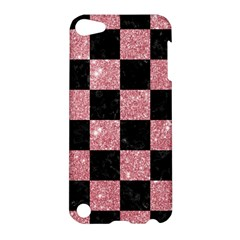 Square1 Black Marble & Pink Glitter Apple Ipod Touch 5 Hardshell Case by trendistuff