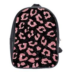 Skin5 Black Marble & Pink Glitter School Bag (large) by trendistuff