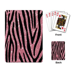 Skin4 Black Marble & Pink Glitter (r) Playing Card by trendistuff