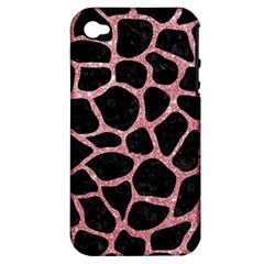 Skin1 Black Marble & Pink Glitter Apple Iphone 4/4s Hardshell Case (pc+silicone) by trendistuff