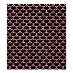 Scales3 Black Marble & Pink Glitter (r) Shower Curtain 66  X 72  (large)  by trendistuff