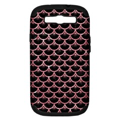 Scales3 Black Marble & Pink Glitter (r) Samsung Galaxy S Iii Hardshell Case (pc+silicone) by trendistuff