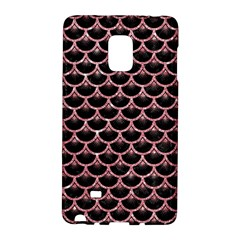 Scales3 Black Marble & Pink Glitter (r) Galaxy Note Edge by trendistuff