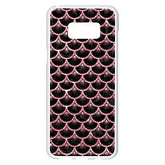 Scales3 Black Marble & Pink Glitter (r) Samsung Galaxy S8 Plus White Seamless Case by trendistuff