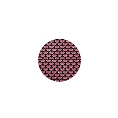 Scales3 Black Marble & Pink Glitter 1  Mini Magnets by trendistuff