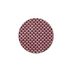 Scales3 Black Marble & Pink Glitter Golf Ball Marker (10 Pack) by trendistuff