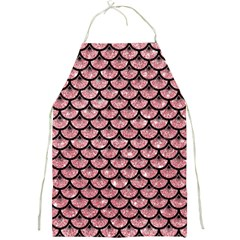 Scales3 Black Marble & Pink Glitter Full Print Aprons by trendistuff