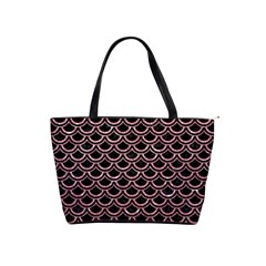 Scales2 Black Marble & Pink Glitter (r) Shoulder Handbags by trendistuff