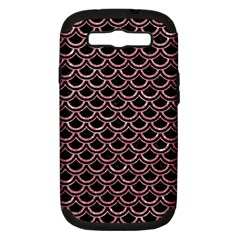 Scales2 Black Marble & Pink Glitter (r) Samsung Galaxy S Iii Hardshell Case (pc+silicone) by trendistuff
