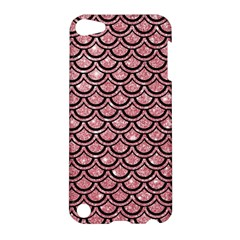 Scales2 Black Marble & Pink Glitter Apple Ipod Touch 5 Hardshell Case by trendistuff