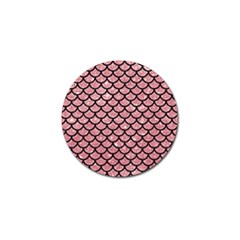 Scales1 Black Marble & Pink Glitter Golf Ball Marker (4 Pack) by trendistuff