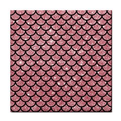 Scales1 Black Marble & Pink Glitter Face Towel by trendistuff