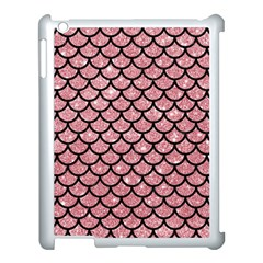 Scales1 Black Marble & Pink Glitter Apple Ipad 3/4 Case (white) by trendistuff