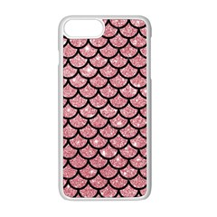 Scales1 Black Marble & Pink Glitter Apple Iphone 8 Plus Seamless Case (white)