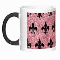 Royal1 Black Marble & Pink Glitter (r) Morph Mugs by trendistuff