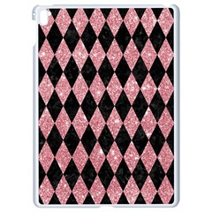 Diamond1 Black Marble & Pink Glitter Apple Ipad Pro 9 7   White Seamless Case by trendistuff