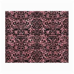 Damask2 Black Marble & Pink Glitter Small Glasses Cloth by trendistuff